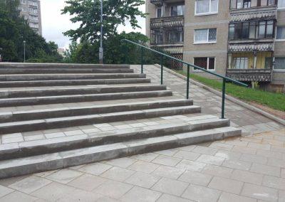Laiptų rekonstrukcija Rygos g. Vilnius.